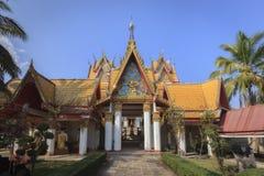Wat Wang Wiwekaram in  SangkhlaBuri. Stock Photo