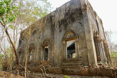 Wat Wang Wiwekaram stary, Kanchanaburi prowincja, Tajlandia, zdjęcia royalty free