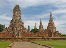 Wat Wattanaram, Ayutthaya,泰国 库存照片