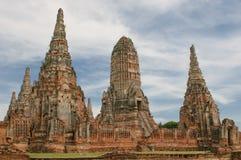 Wat Wattanaram, Ayutthaya,泰国 免版税库存照片