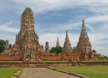 Wat Wattanaram, Ayutthaya, Thailand Stock Photos