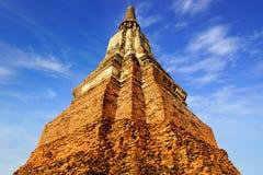 Wat柴Watthanaram寺庙。阿尤特拉利夫雷斯 免版税库存图片