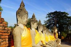 Wat柴Watthanaram寺庙。阿尤特拉利夫雷斯 图库摄影