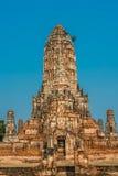 Wat柴Watthanaram寺庙阿尤特拉利夫雷斯曼谷泰国 库存照片