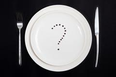 Wat wij vandaag voor diner zullen hebben? Stock Afbeelding