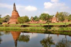 Wat Wora Chet Tha公羊 免版税库存图片