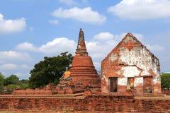 Wat Worachatha Ram. Buddha in temple of Wat Worachatha Ram Ayutthaya ,Thailand royalty free stock photo