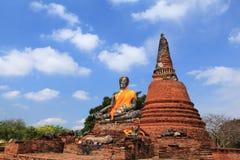 Wat Worachatha Ram. Buddha in temple of Wat Worachatha Ram Ayutthaya ,Thailand royalty free stock image