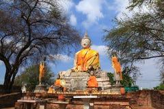 Wat Worachatha Ram. Buddha in temple of Wat Worachatha Ram Ayutthaya ,Thailand stock image