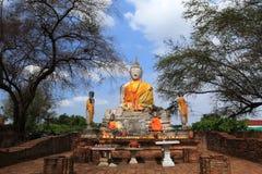 Wat Worachatha Ram. Buddha in temple of Wat Worachatha Ram Ayutthaya ,Thailand royalty free stock photography