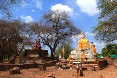 Wat Worachatha Ram. Buddha in temple of Wat Worachatha Ram Ayutthaya ,Thailand stock photos