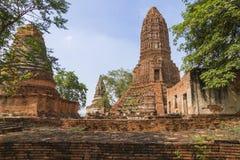Wat Worachet -阿尤特拉利夫雷斯寺庙泰国 免版税库存图片