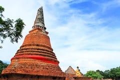 Wat Worachetha Ram Ayutthaya, Thailand royaltyfria bilder