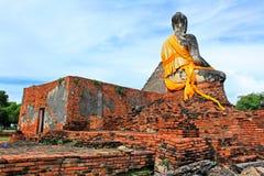 Buddha Image At Wat Worachetha Ram, Ayutthaya, Thailand royalty free stock photography