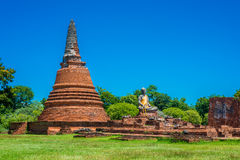 Wat Worrachettharam The measurement is important temple in Ayutt Royalty Free Stock Image