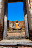 Wat Worrachettharam The measurement is important temple in Ayutt Stock Photography