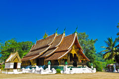 Wat Xiang Thong LuangPraBang som är laotisk Royaltyfri Fotografi