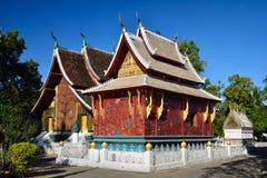 Wat Xieng皮带寺庙, Luang Pra轰隆,老挝 库存图片