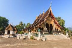 Wat Xieng Thong beautiful architecture of Luang Prabang, Laos. Royalty Free Stock Images