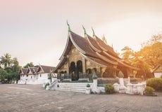 Wat Xieng Thong in Luang Prabang royalty free stock photos
