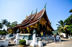 Wat Xieng Thong ,Luangprabang. Wat Xieng Thong (or Temple of the Golden City) is a Buddhist temple (wat), located on the northern tip of the peninsula of Luang Stock Photos