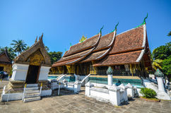 Wat Xieng Thong ,Luangprabang. Wat Xieng Thong (or Temple of the Golden City) is a Buddhist temple (wat), located on the northern tip of the peninsula of Luang Stock Images