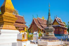 Wat Xieng Thong, the most popular temple in Luang Pra bang Stock Images