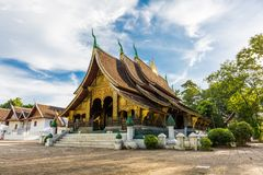 Wat Xieng Thong, a popular Buddhist temple in Luang Prabang, Lao. A popular Buddhist temple in Luang Prabang, Laos royalty free stock photography