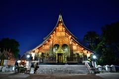 Wat Xieng thong temple in twilight, Luang Pra bang, Laos Stock Images