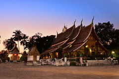 Wat Xieng thong temple in twilight, Luang Pra bang, Laos Stock Photos