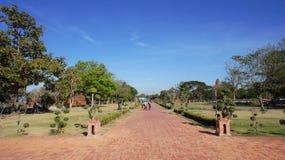 Wat Yai, Ayutthaya świątyni wejście obrazy stock