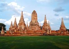 Wat Yai Chai Mong Kol en Ayuthaya Tailandia Imagenes de archivo