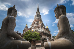 Wat Yai Chai Mongkhol стоковые фотографии rf