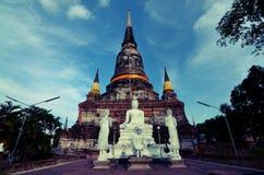 WAT YAI CHAI MONGKHOL. Ayutthaya, THailand royalty free stock images