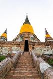 Wat Yai Chai Mongkhon σε Ayutthaya, Ταϊλάνδη Στοκ Εικόνα