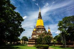 Wat Yai Chai Mongkhon της επαρχίας Ayuthaya Στοκ εικόνες με δικαίωμα ελεύθερης χρήσης