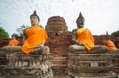 Wat Yai Chai Mongkhon immagine stock libera da diritti