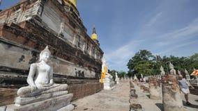 Wat Yai Chai Mongkhon immagini stock libere da diritti