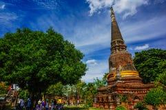 Wat Yai Chai Mongkhon av det Ayuthaya landskapet Arkivbild