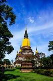 Wat Yai Chai Mongkhon av det Ayuthaya landskapet Royaltyfri Foto