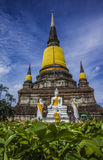 Wat Yai Chai Mongkhon av det Ayuthaya landskapet Arkivfoton