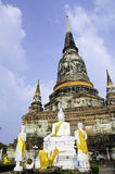 Wat Yai Chai Mongkhon of Ayuthaya Province Thailand Stock Images