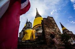 Wat Yai Chai Mongkhon Ayuthaya prowincja fotografia stock