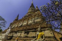 Wat Yai Chai Mongkhon, Ayutthaya, centrale della Tailandia fotografia stock