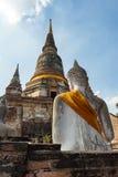 Wat Yai Chai Mongkhon, Ayutthaya, Tailandia Fotografia Stock Libera da Diritti