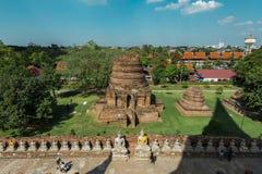 Wat Yai Chai Mongkhon, Ayutthaya, Tailandia Immagini Stock Libere da Diritti
