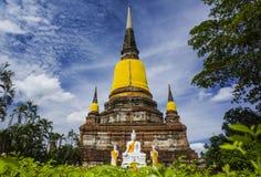 Wat Yai Chai Mongkhon della provincia di Ayuthaya fotografie stock