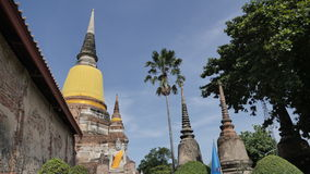 Wat Yai Chai Mongkhon eller den stora kloster av den lovande segern i Ayutthaya av Thailand Royaltyfri Foto
