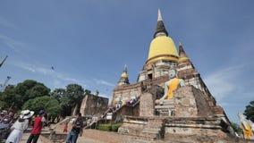 Wat Yai Chai Mongkhon eller den stora kloster av den lovande segern i Ayutthaya av Thailand Royaltyfri Fotografi