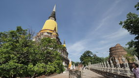 Wat Yai Chai Mongkhon eller den stora kloster av den lovande segern i Ayutthaya av Thailand Royaltyfria Bilder